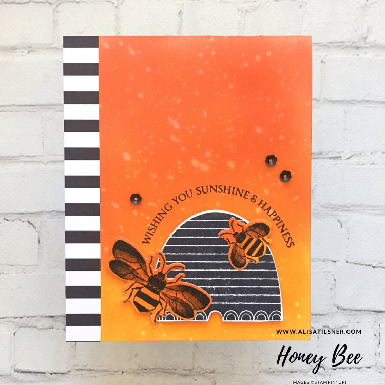 Honey Bee Bundle by Stampin' Up! Card created by Alisa Tilsner