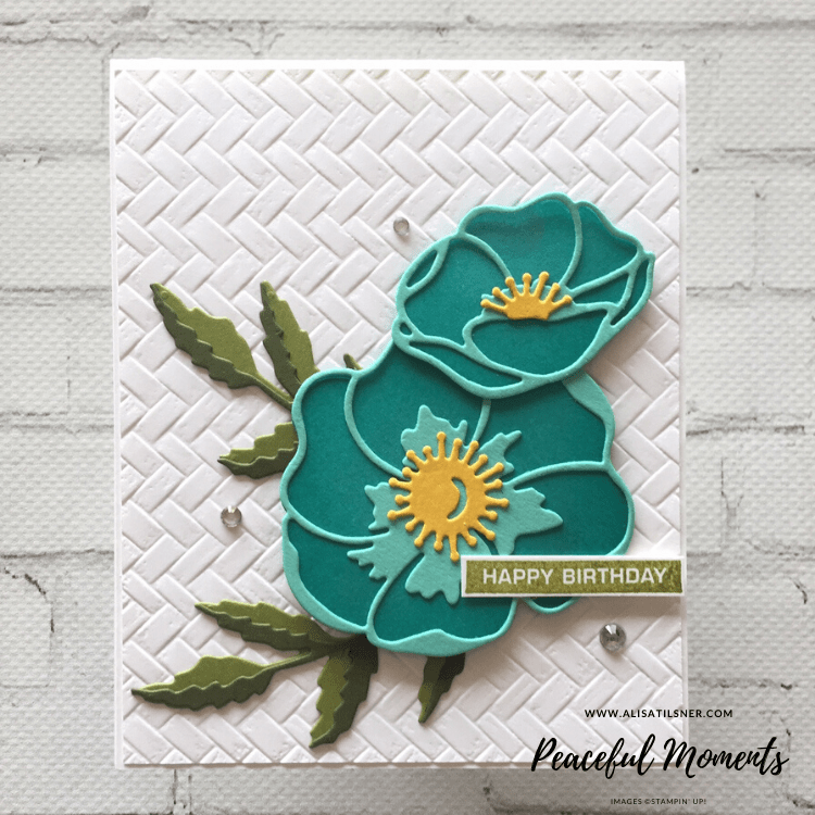 Peaceful Moments Die by Stampin' Up! Card created by Alisa Tilsner. All products used available from Alisa Tilsner