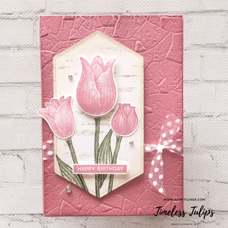 Timeless Tulips by Stampin' Up! Card created by Alisa Tilsner.  All products available from Alisa Tilsner Stampin' Up! Demonstrator in Australia