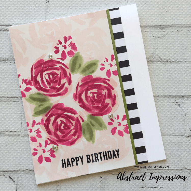 Stampin' Up! Abstract Impressions Birthday Cards created by Alisa Tilsner.