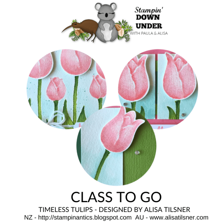 Timeless Tulips Class to Go available in Australia and New Zealand.