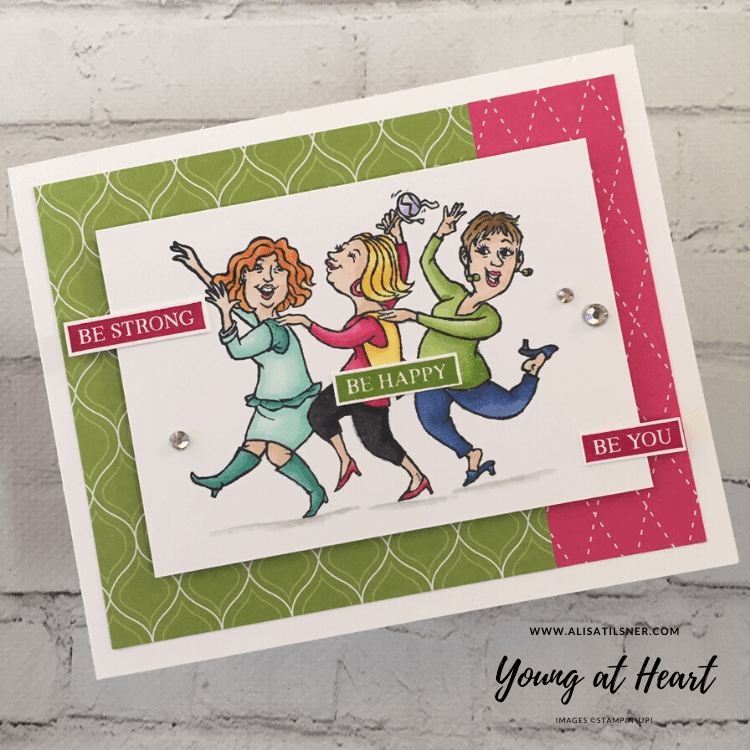 Stampin' Up! Young at Heart stamp set from the Annual Catalogue.  Card made by Alisa Tilsner