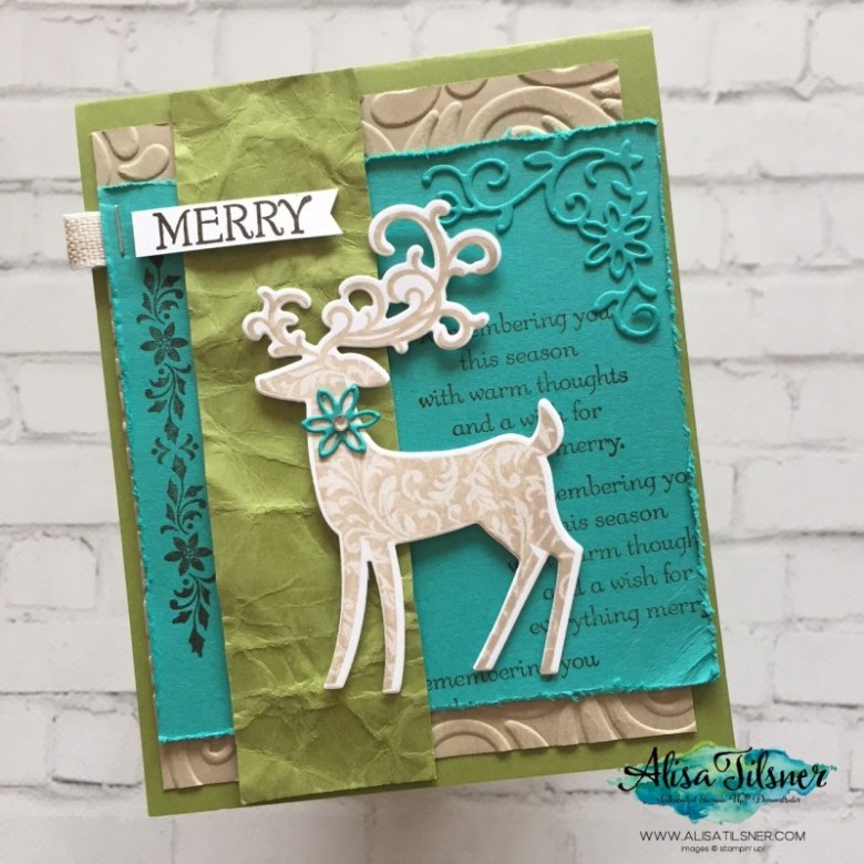 Dashing Deer from Stampin' Up! is Retiring soon!  Card by Alisa Tilsner