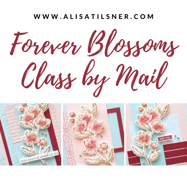 Forever Blossoms Class by Mail designed by Alisa Tilsner.  Available anywhere in Australia.  Sign up open till 8th May 2020