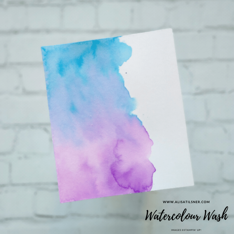 How to create a Watercolour Wash with Stampin' Up! Inks and Shimmery Card