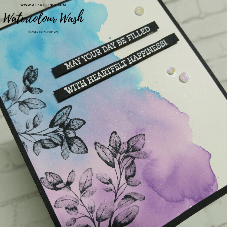 Watercolour Wash Background for Card Making