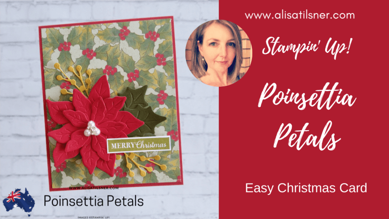 Video of Stampin' Up! Poinsettia Christmas Card