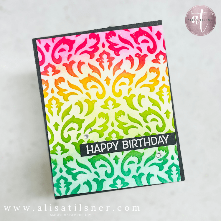 Card Making Technique – Dry Embossing a Decorative Mask