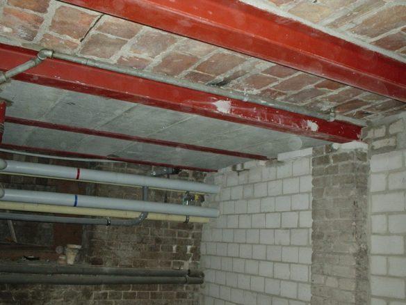 Unterfangung einer alten Kellerdecke