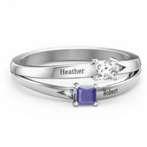 Princess Stone and Accent Ring