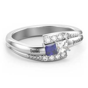 Double Princess Bypass with Accents Ring