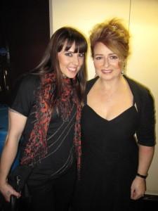 Mel C and Alison Burns