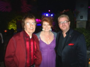 Bill Wyman, Alison Burns and Martin Taylor