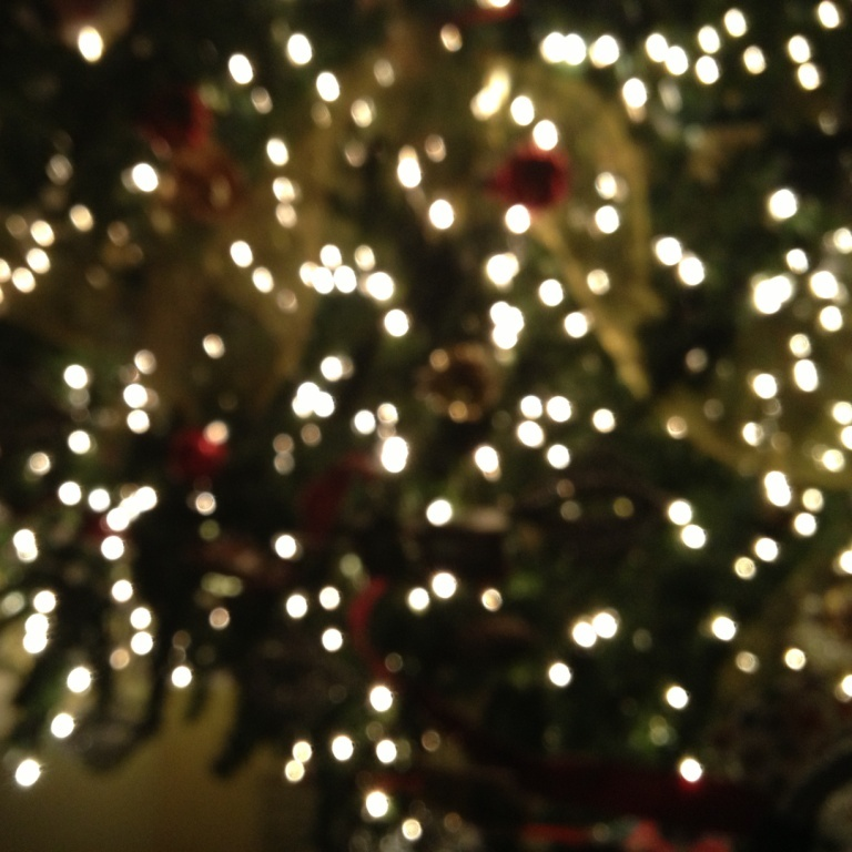 Inspired Christmas, Blurred Christmas Lights, Joy