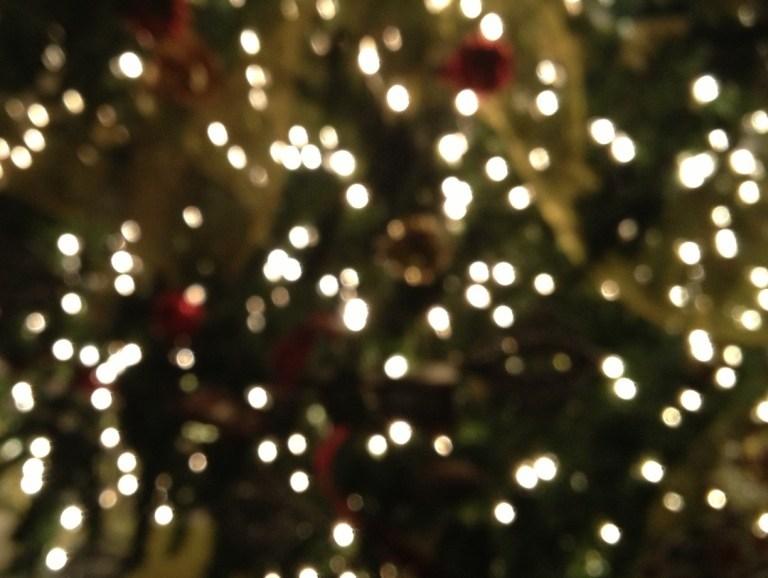 Inspired Christmas, Blurred Christmas Lights, Joy
