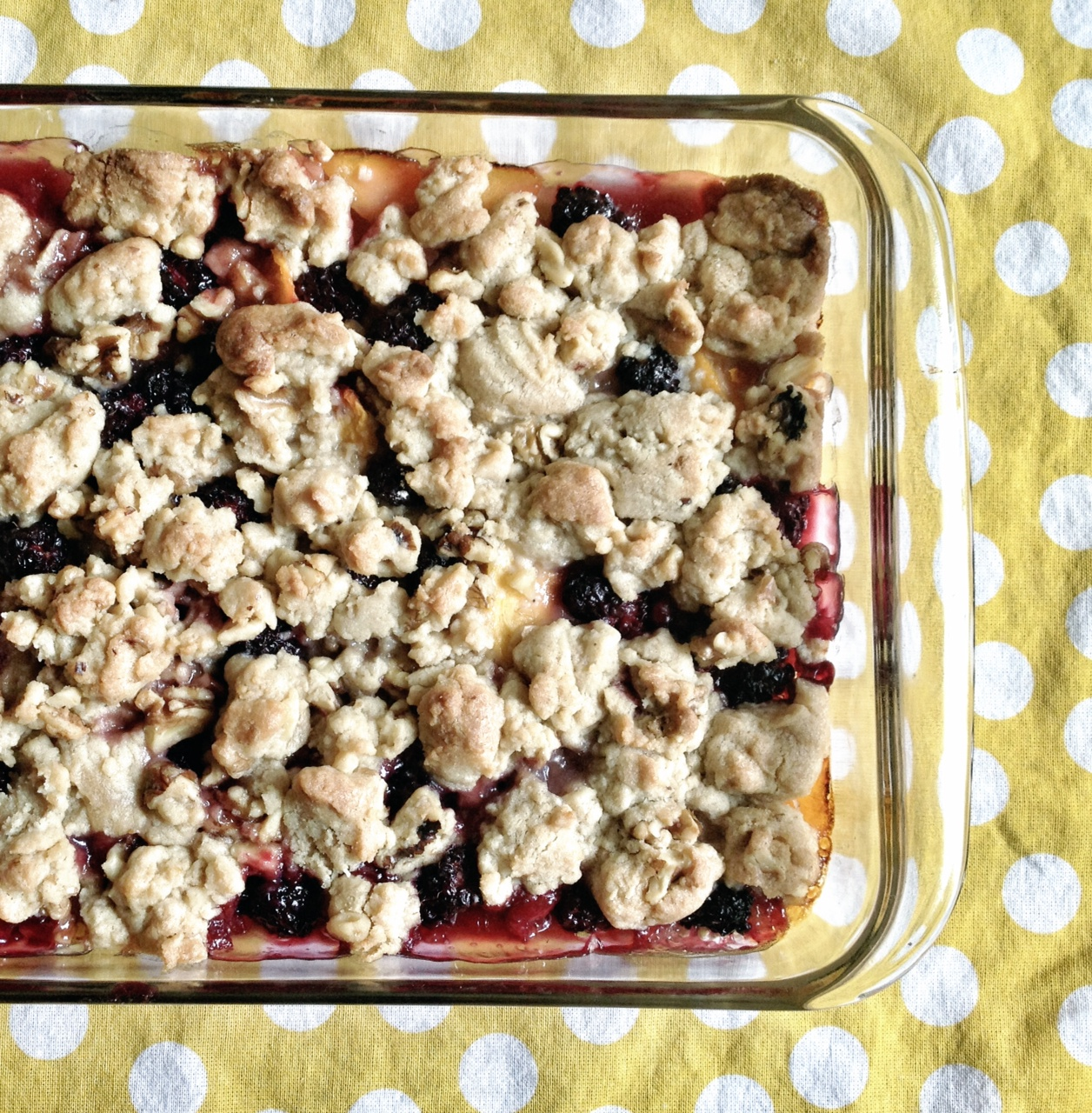 award winning blackberry peach cobbler