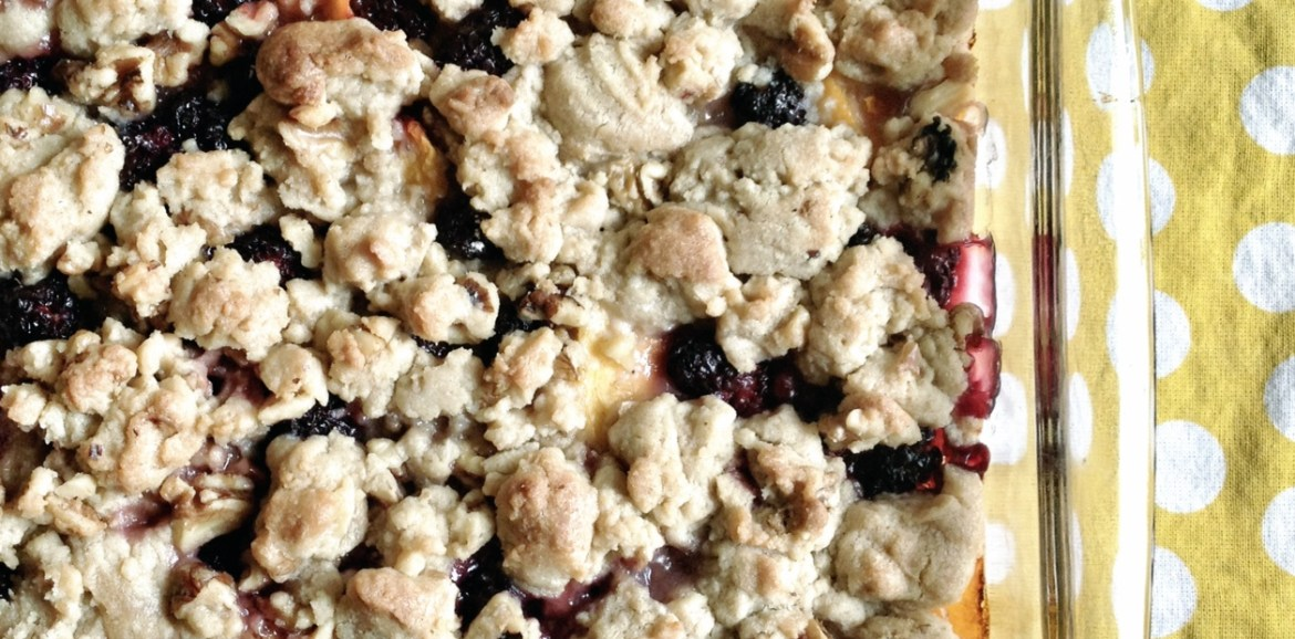 award winning blackberry peach cobbler