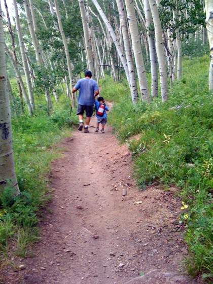 """mountain biking trail"" ""snodgrass trail"" ""aspen trees"" ""father son"""