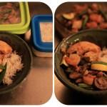 Seafood Vegetable Stir Fry Dinner
