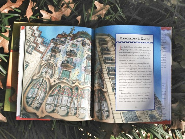 gaudi children's books, beautiful illustrations, books about antoni gaudi, lovely picture books, stories for children, nonfiction (4)