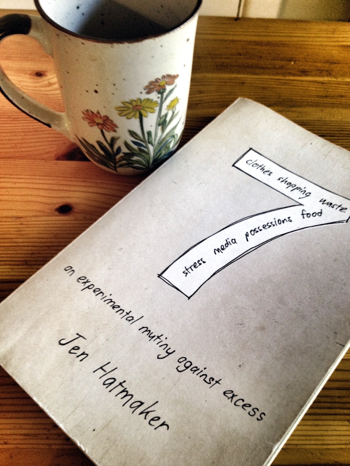 seven: an experimental mutiny against excess, reading, cute coffee mug, jen hatmaker book,