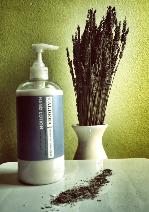 favorite hand lotion, caldrea herbs of provence, chino house favorites