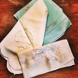 Grandmother's Treasures, WIWW, old hankerchiefs