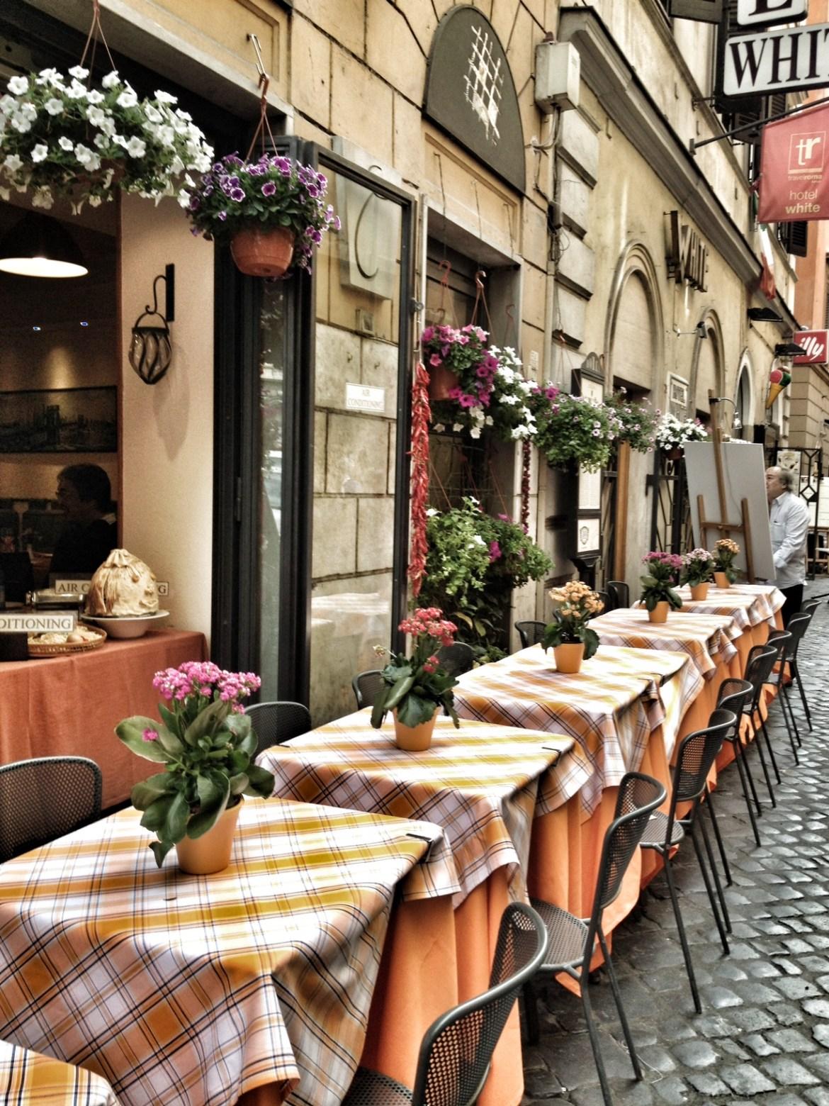 Rome, Italy, Lovely Street Tables, Beautiful Rome