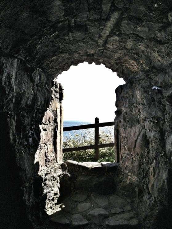 Dunnottar Castle, Stonehaven, Scotland, United Kingdom, Window to the sea