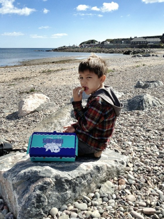 Stonehaven, Scotland, United Kingdom, Fish and Chips By The Sea