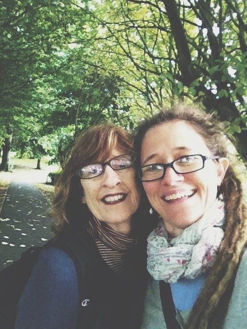 Walking in Aberdeen, Scotland with my mama