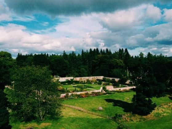 Castle Fraser, Scotland, Aberdeenshire, Castle Garden