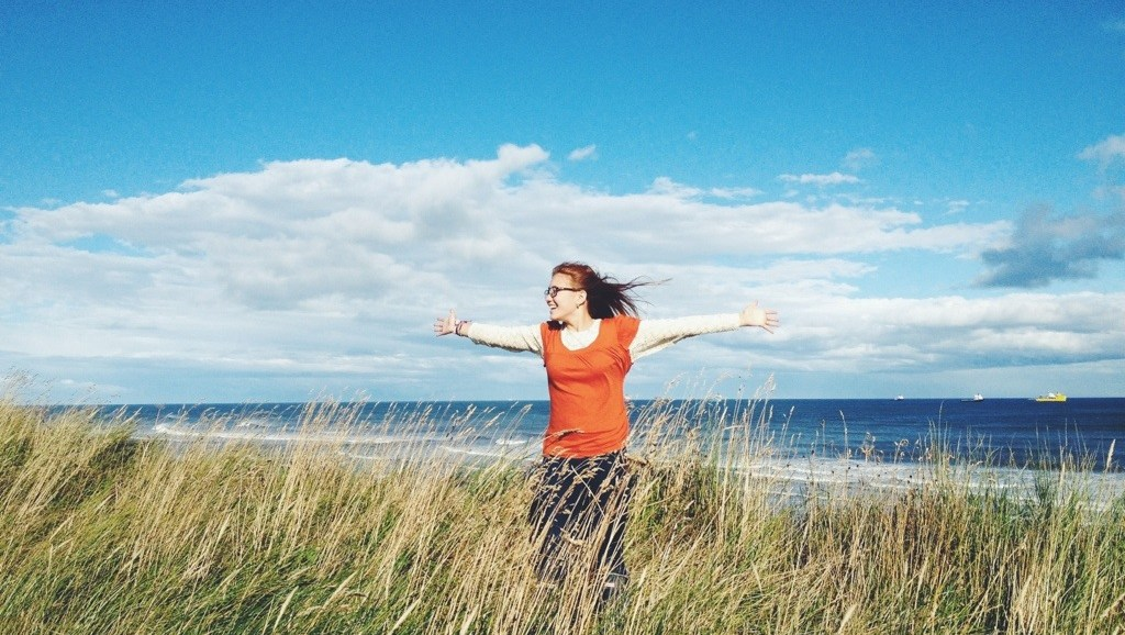 The North Sea Walk, Windy Seas, Wheat Fields, Scotland