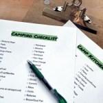 Chino House Camping Checklist