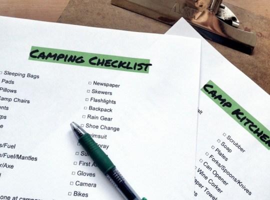 Chino House Camping Checklist, Download at AlisonChino.com