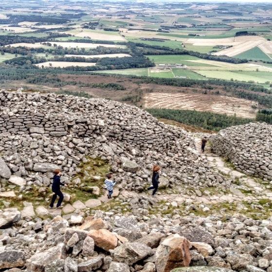 Hiking In Scotland With Kids, Bennachie in October, Back O Bennachie