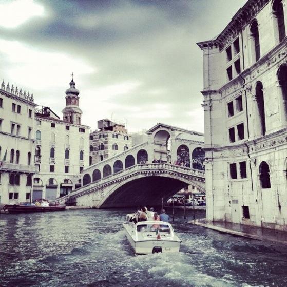 Venice, The Grand Canal, Rialto Bridge, Vaporetto #1 in Venice Italy, Gondolas, Water Bus