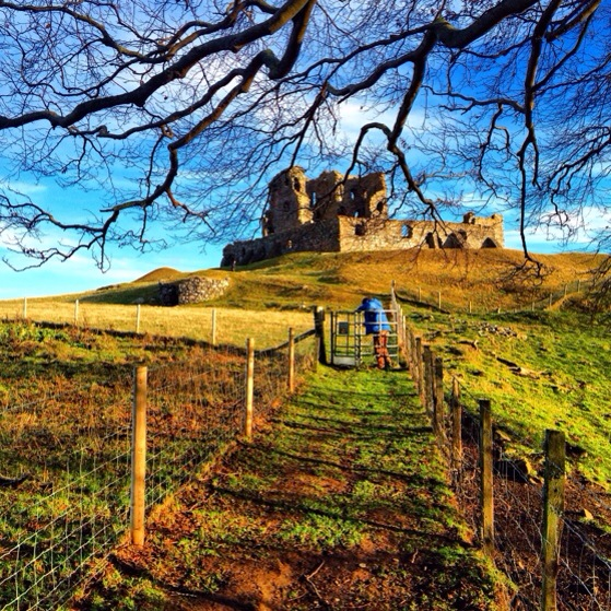 Auchindoun Castle Ruins, Snapshots of Scotland in Winter