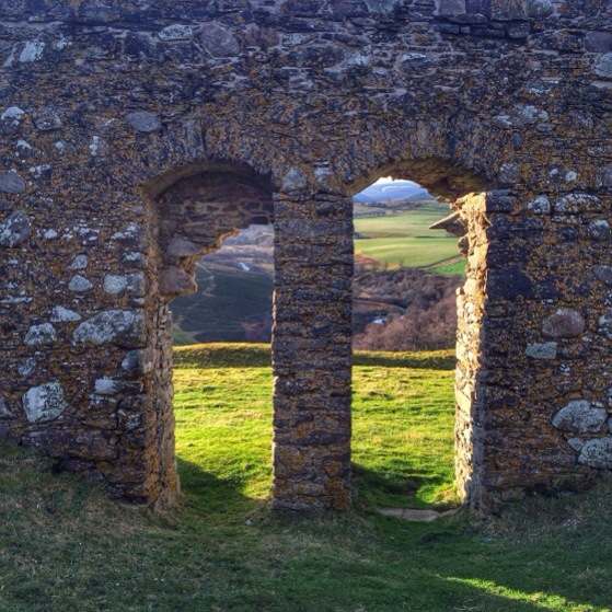Auchindoun Castle Ruins, Snapshots of Scotland in Winter