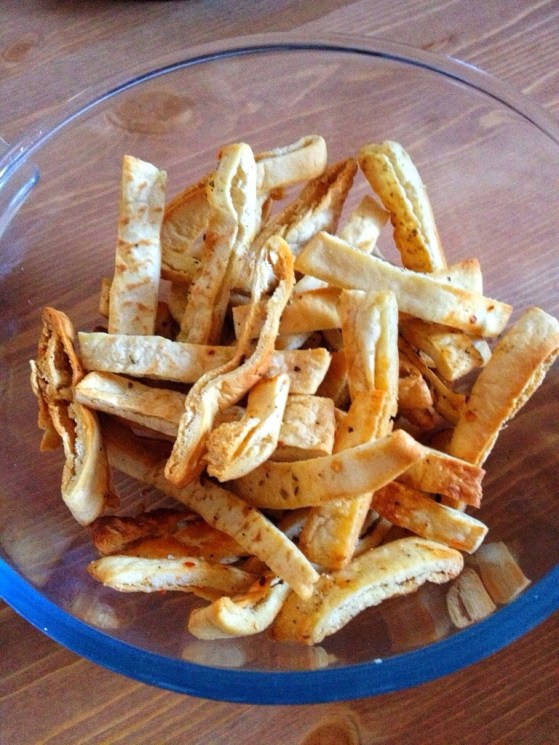 Homemade Pita Chips, Hummus