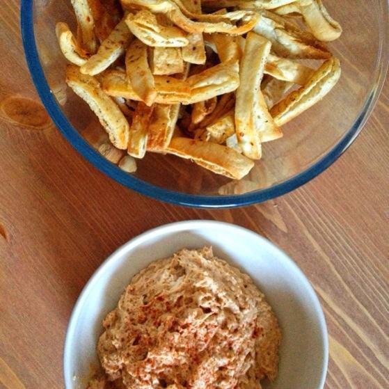 Butternut Squash Hummus, Homemade Piita Chips, Vegetarian