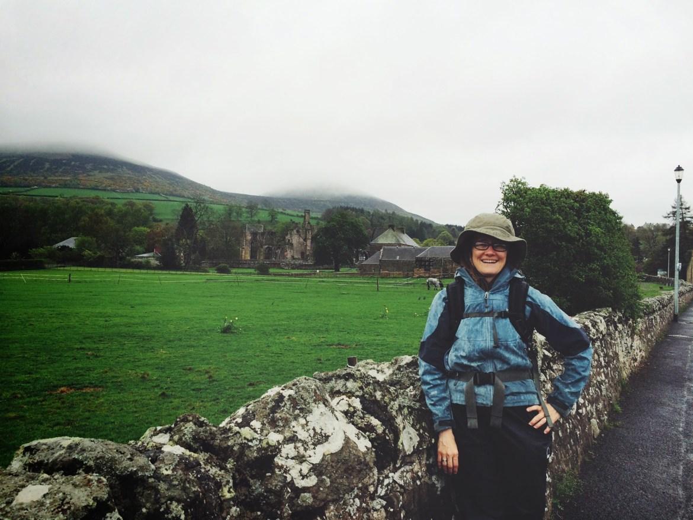 Alison Chino, Melrose Abbey St Cuthbert's Way, Scotland, Scottish Borders