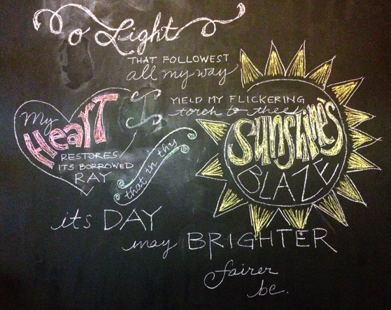 IN The Pipeline, Chino House Chalkboard Art