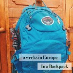 Packing Light for Travel in Europe and the UK
