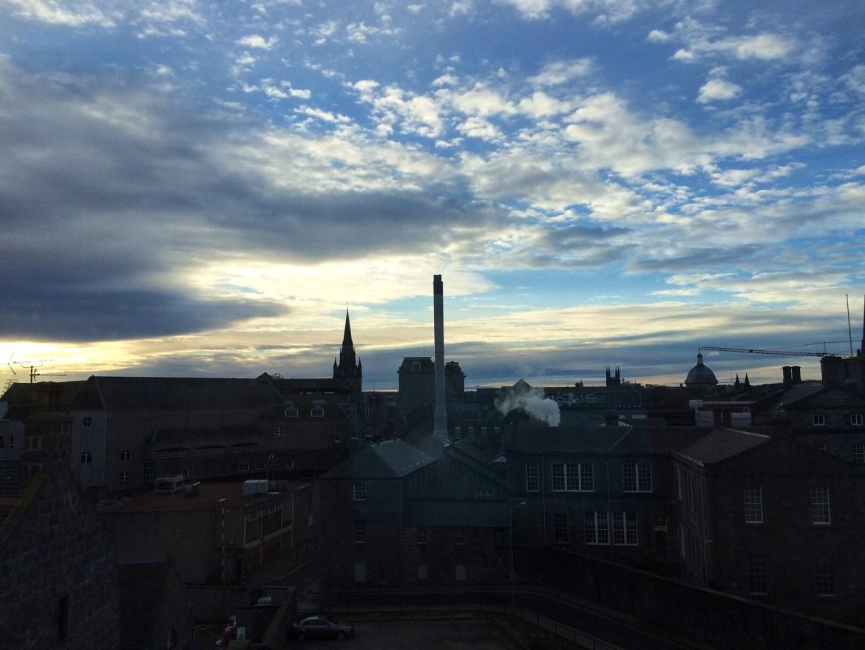Aberdeen, View from Hilton Garden Inn, Scotland