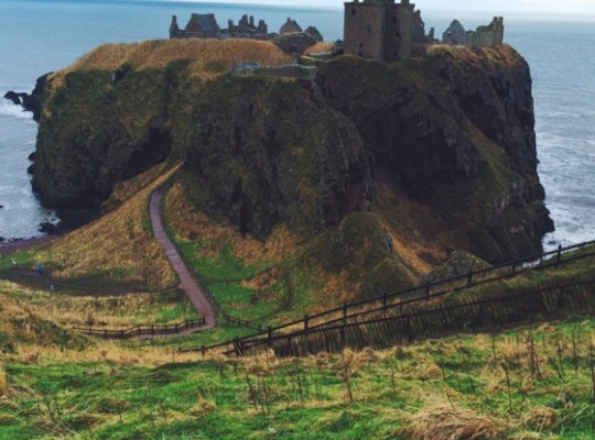 Aberdeen Visitors, Stonehaven, Donnottar Castle, Scotland