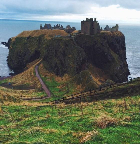 Aberdeen Visitors, Stonehaven, Donnottar Castle, Scotland