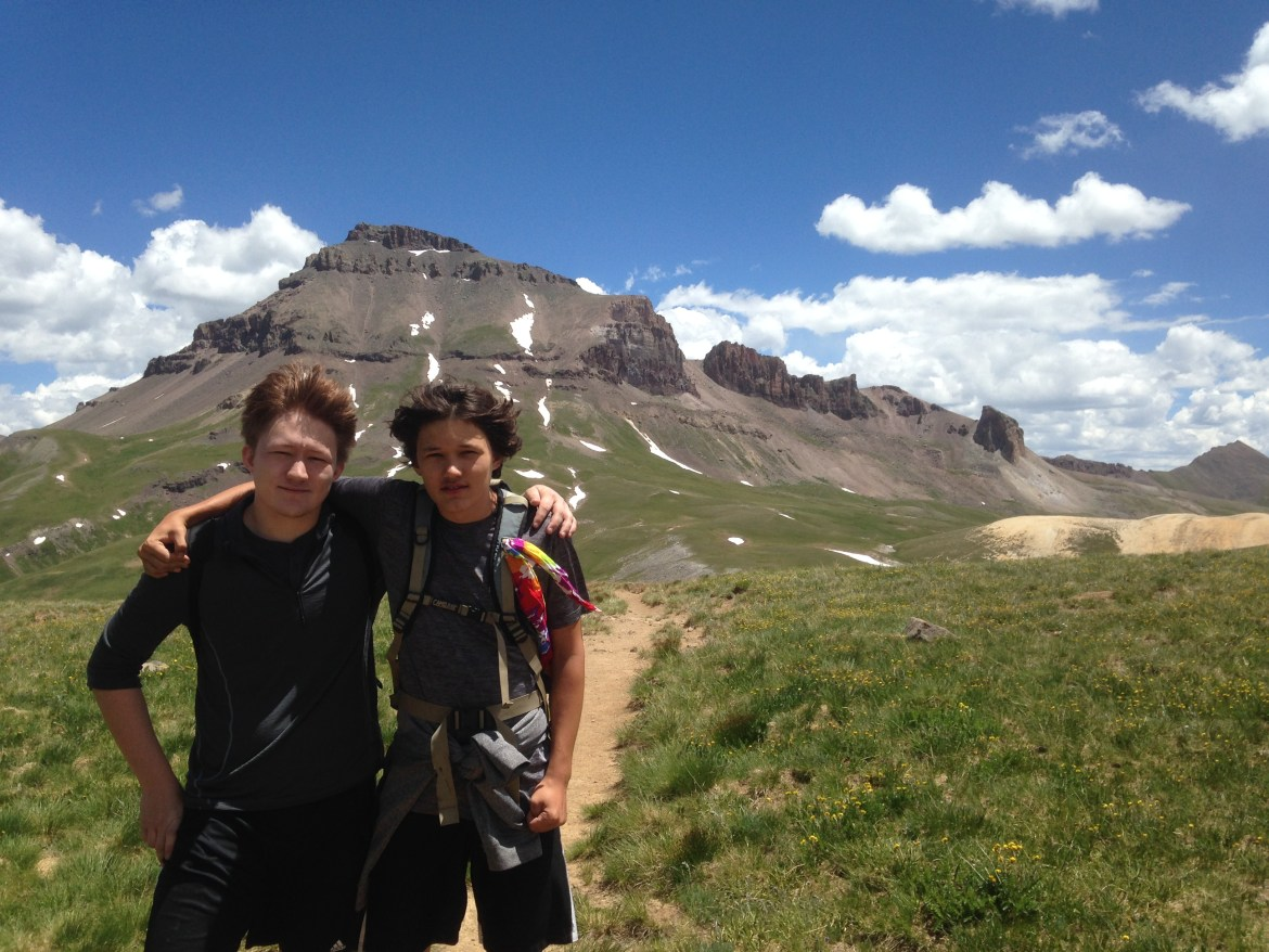 Ben and Cole in CO, Summer Grateful