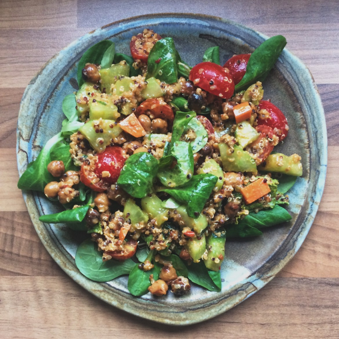 Quinoa Chickpea Power Salad, Lunchbox Ideas
