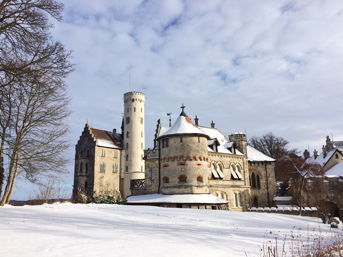 Winter Germany, Winter in Tübingen, Winter in Germany, Liechtenstein Castle in Snow